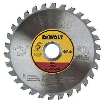 DEWALT 5-1/2 in. 30 Tooth Metal Cutting Blade w/ M-ATB Tooth Grind DWA7770