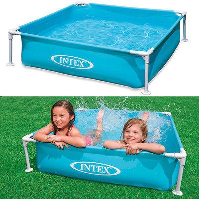 INTEX Frame Babypool Kinderpool 122x122x30cm Swimmingpool Planschbecken Blau