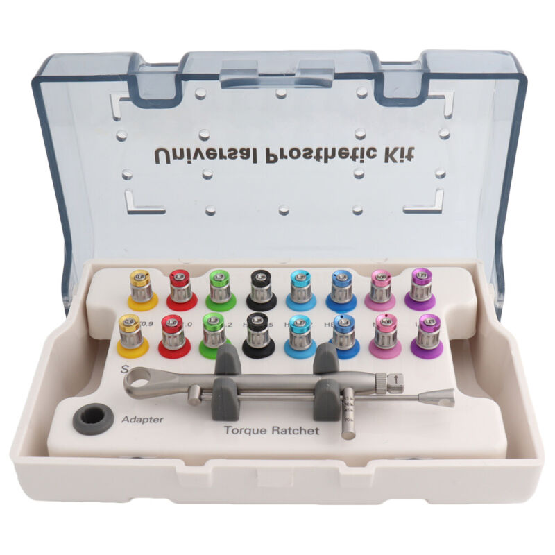 Universal Implant Torque Ratchet Screwdrivers Wrench Prosthetic Kit 10-70NCM