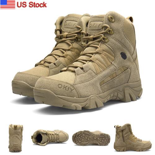 men s tactical military combat boots non