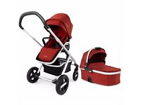 Nuna Ivvi Pushchair + Carry Cot Ruby Red
