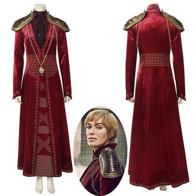 Game of Thrones Season 8 Cersei Lannister Cosplay Costume Women Dress Outfit