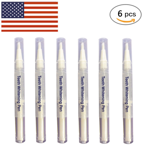 6 PCS Ultimate Strength 44% Peroxide Teeth Whitening Pen Tooth Bleaching Gel New Health & Beauty
