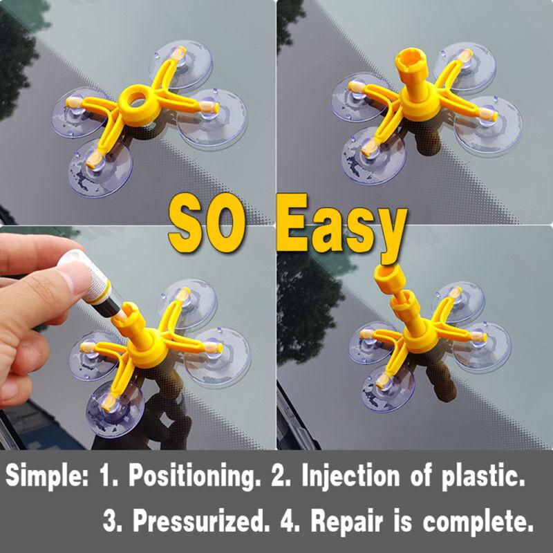 Windshield Repair Tool Set DIY Car Kit Wind Glass Chip Crack Windscreen L