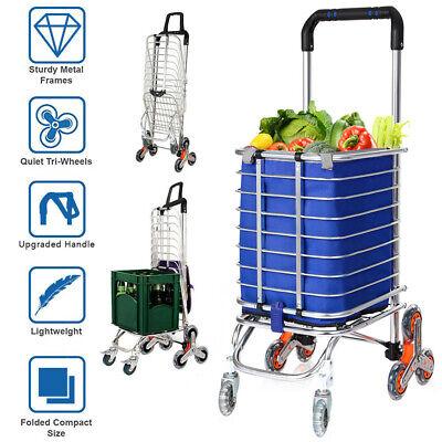 New Large Capacity Light Weight Wheeled Shopping Trolley Push Cart Laundry Bag