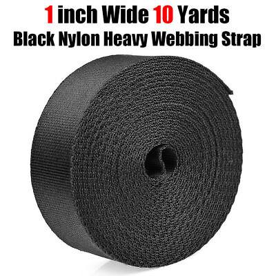 - 1 Inch Wide 10 Yards Black Nylon Heavy Webbing Strap Free Shipping New