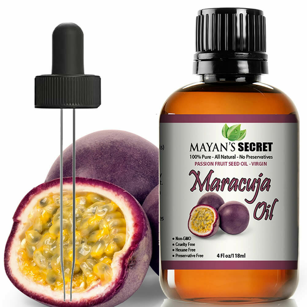 Maracuja Oil Passion Fruit Seed Vitamin C 100% Pure Virgin/Cold Pressed 4oz huge Health & Beauty