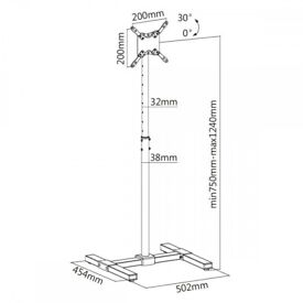 Compact TV/Monitor Display Stand for 13″ – 36″ LCD TVs £50