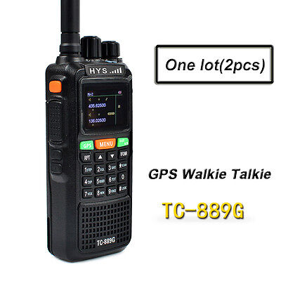 10W GPS Walkie Talkie Dual Band VHF UHF Long Range 2 Way Radio Amateur Ham Radio
