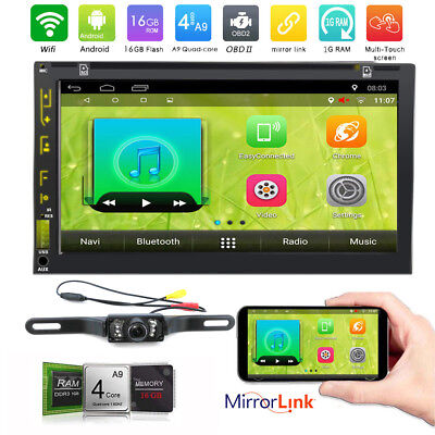 Us Andriod 6 0 Double 2Din 7  Car Stereo Gps Radio Wifi 4G Mirror Dvd Player Cam