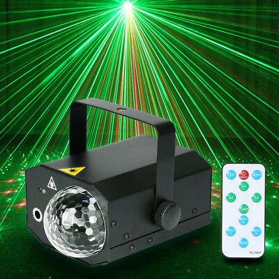 16 in 1 Sound Active Stage Lighting LED Light Laser RGB Wedding Club Disco Party
