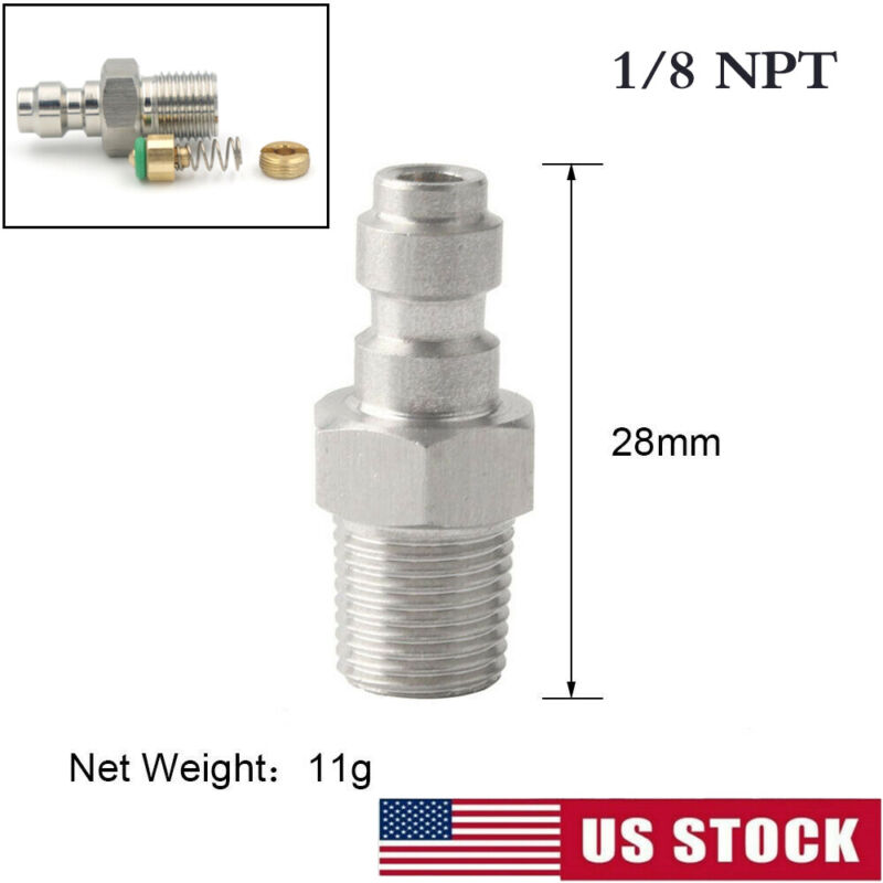 Paintball Airsoft One Way Foster Valve 8mm Fill Nipple Stainless Steel 1/8