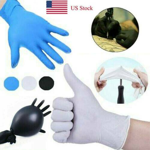 100 Pairs Comfortable Rubber Gloves Oil Resistant Clear Mech