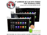"7"" HD Android Internet GPS Bluetooth WiFi CD DVD USB SD Player Car Stereo Screen Mirror For Vauxhall"