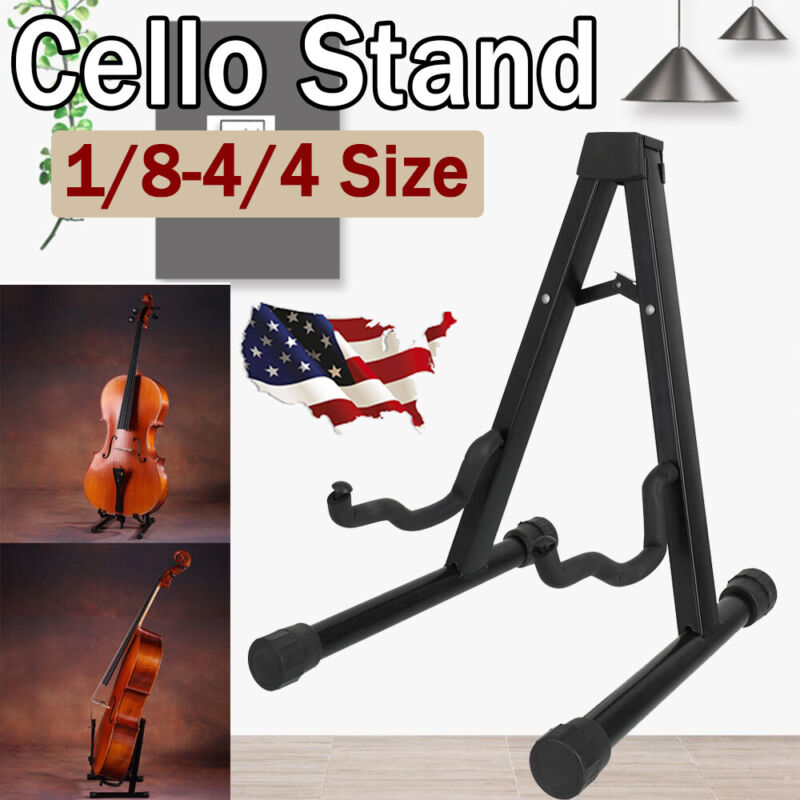 1/8-4/4 Protable Adjustable Folding Cello Stand Support Display for Violin USA
