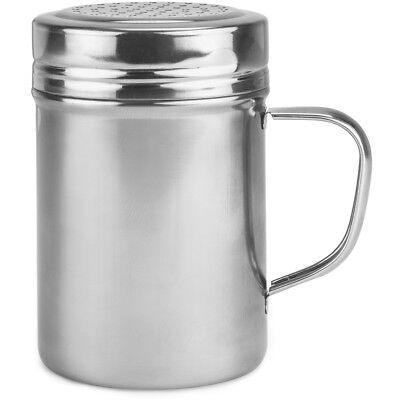 Metal Dredge Shaker With Stainless Steel Top 10 Oz Restaurant Quality Dispenser