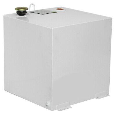 Delta 50 Gallon Square Steel Liquid Transfer Tank - White 485000 New