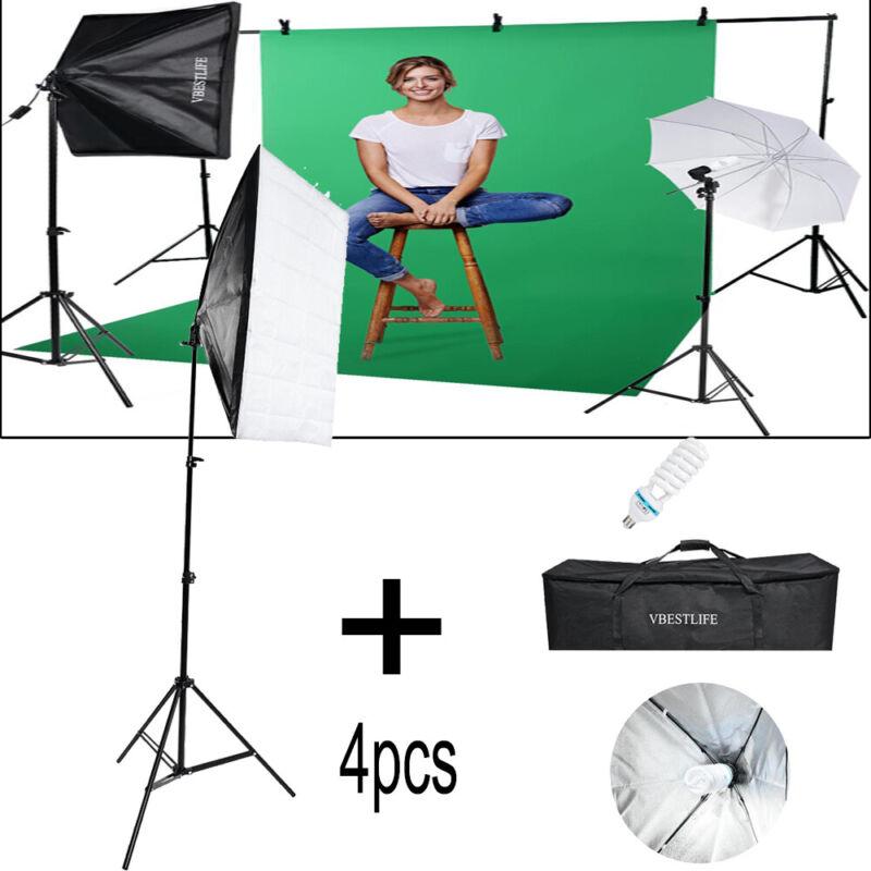 Photography Lighting Softbox Stand Photo Equipment Soft Studio Light Kit W/ Bag
