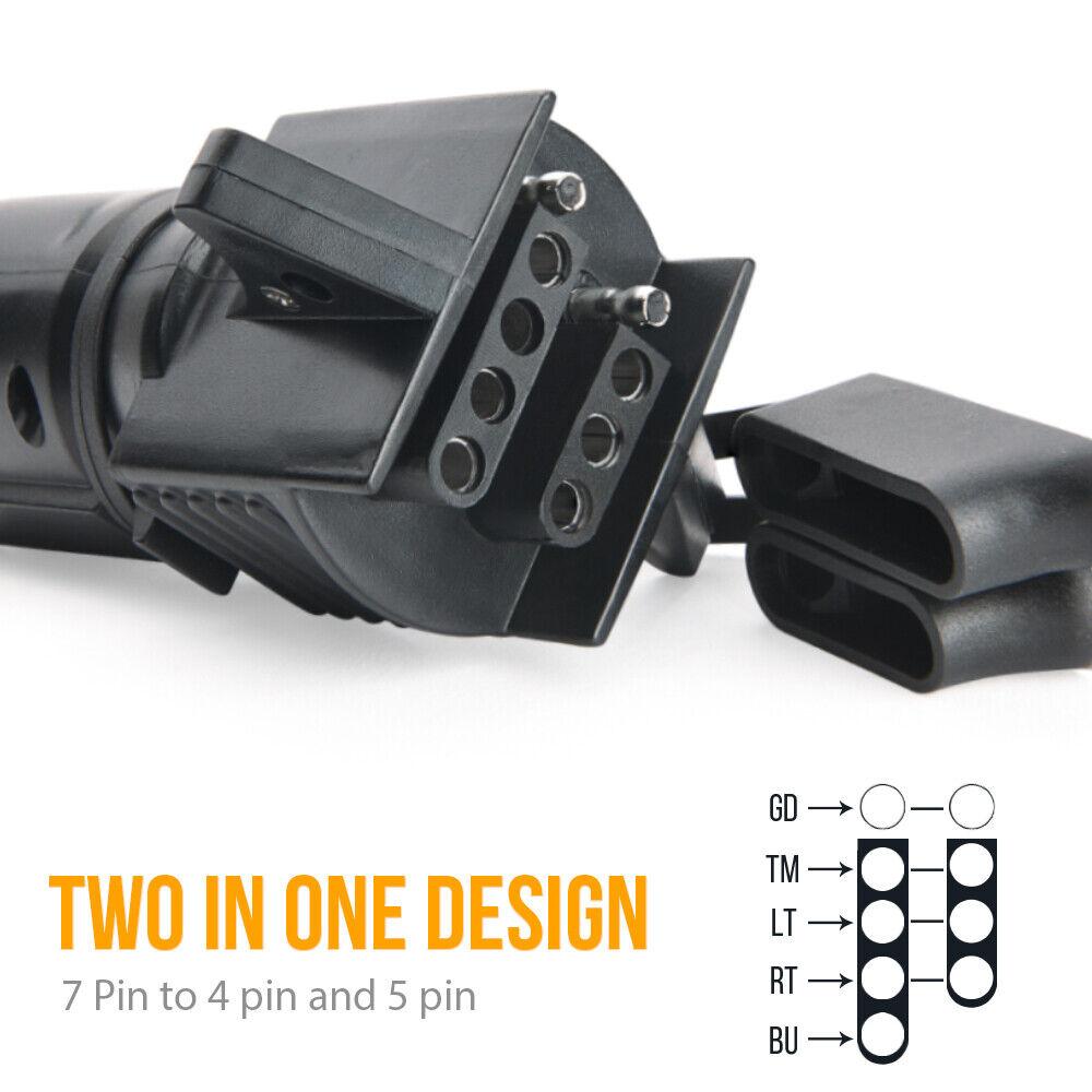 Towbar plug Adapter 13 pin to 7 pin CONVERTER reducer