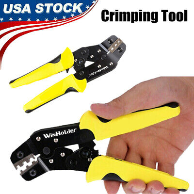 Crimping Tool Insulated Cable Connectors Terminal Ratchet Wire Crimper Pliers Us