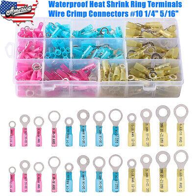 Waterproof Heat Shrink Ring Terminals Wire Crimp Connectors 10 14 516