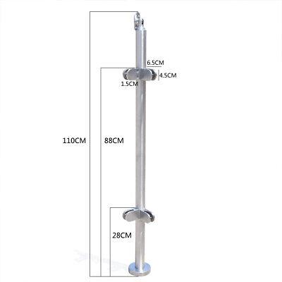 110cm Height Balustrade Railing Glazing Stainless Steel Pole Handrail Garden UK