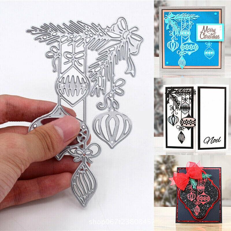 Christmas Bauble Metal Cutting Dies DIY Stencil Scrapbook Card Craft Embossing