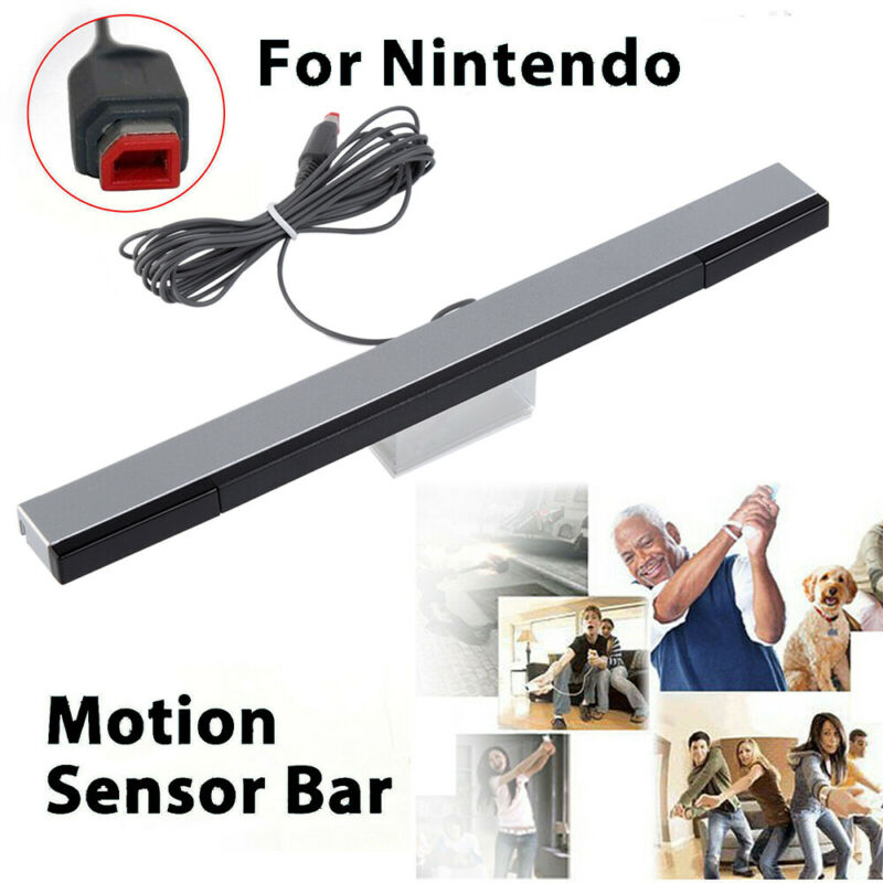2pcs Wired Remote Motion Sensor Bar IR Infrared Ray Inductor for Nintendo Wii U