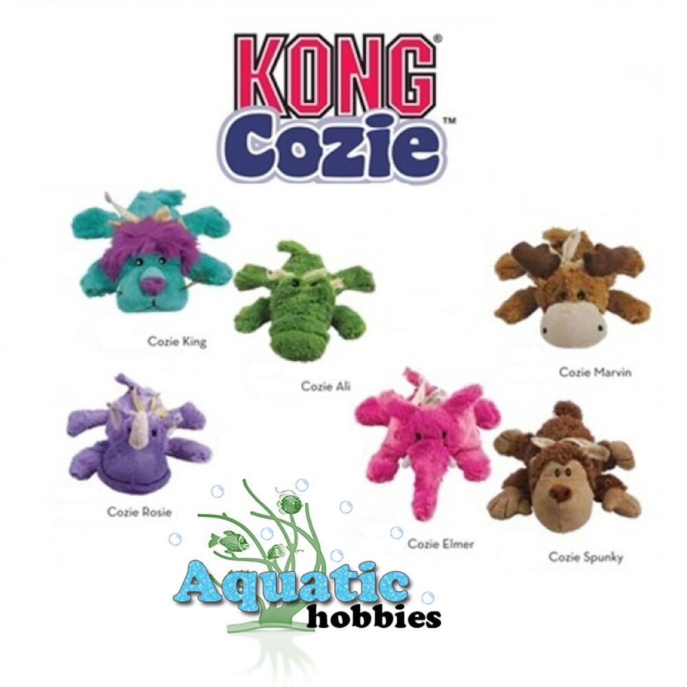 Kong Cozie Small Squeak Soft Cuddly Plush Dog Puppy Toy Choo