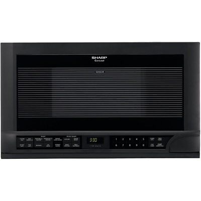 Sharp R-1210 1-1/2-Cubic-Foot 1100-Watt Over-the-Counter Microwave, Black New