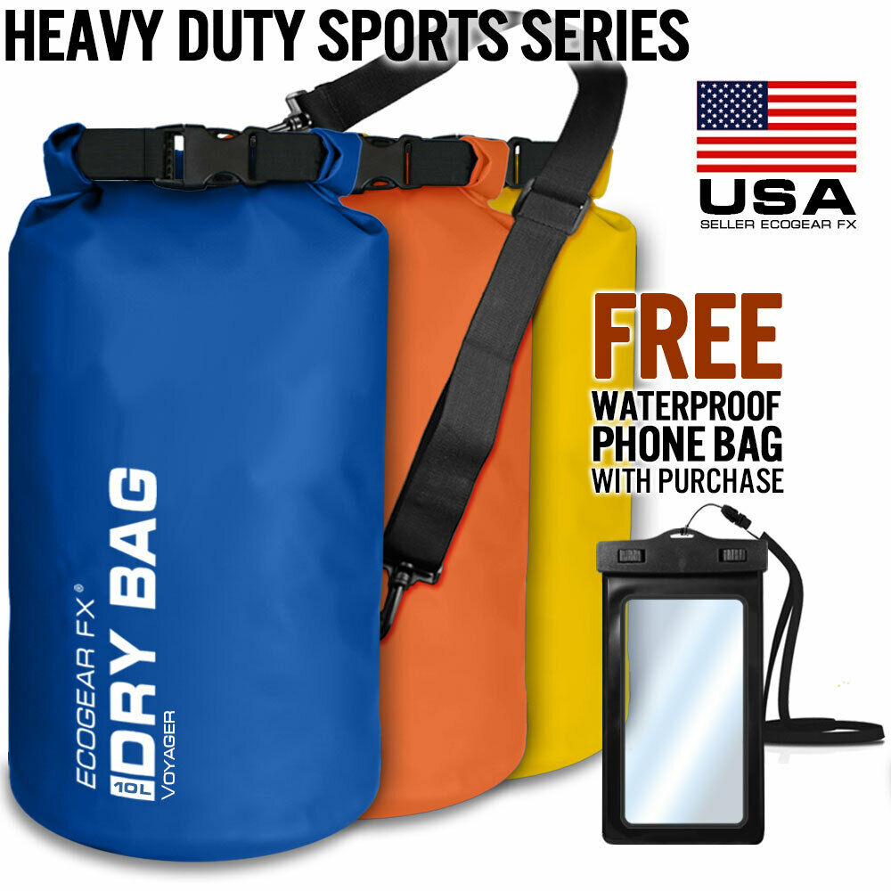 Waterproof Dry Bag Roll Top Dry Gear Bag for Kayak, Fishing, Camping 10/20 Liter