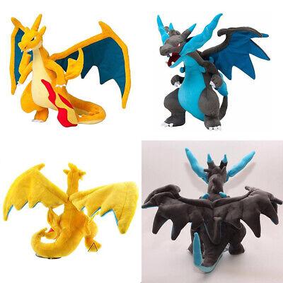Pokemon Go Mega Charizard X / Y Figures Plush Toy Stuffed Doll 8'' Kids Gift