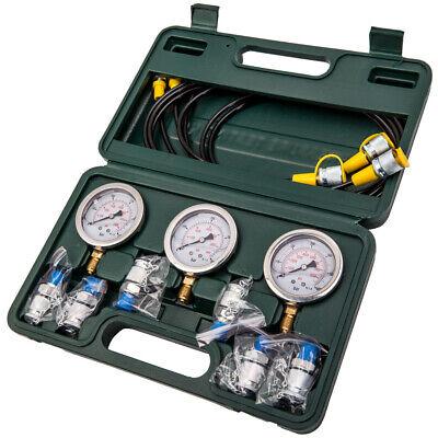 Hydraulic Pressure Testing Gauge Diagnostic Couplings Check Hose Kit Excavator