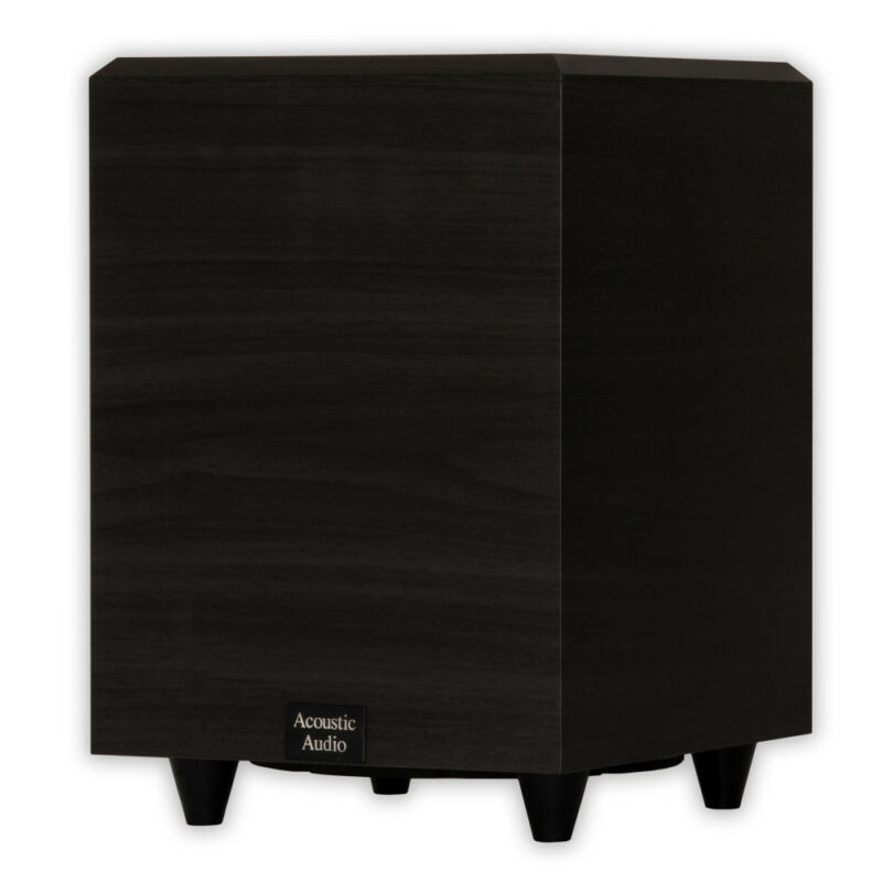 """Acoustic Audio PSW-8 Home Theater Powered 8"""" Subwoofer 300 Watts Surround"""