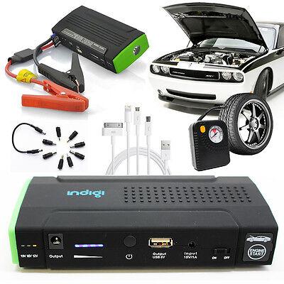 Most Powerful Portable Car Jump Starter Power Bank Flat Tire Air Pump Station