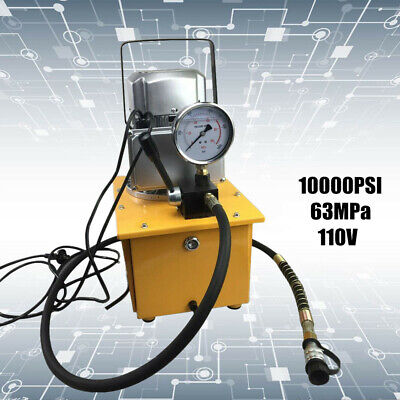 Electric Driven Hydraulic Pump 10000psi Single Acting Manual Valve 1400rmin