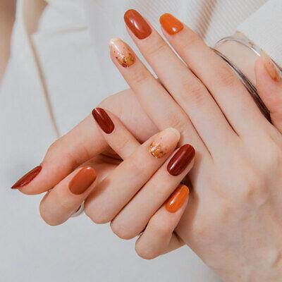 [OHORA] Self Gel nail art patch 30pcs K-beauty N Leaves Autumn