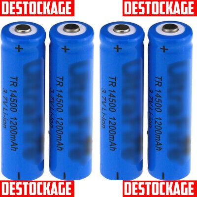 4 Pilas Batería Recargable 3.7v Aa Er14505 Ls14500 1200Mah 14500
