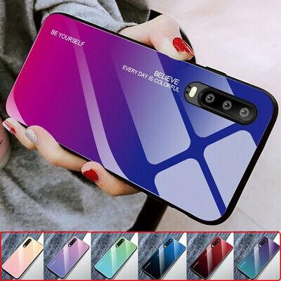 Gradient Tempered Glass Phone Case For Huawei P20 Pro P30 Pro Lite Hononr10 Lite