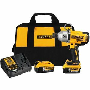 DEWALT-DCF898P2-20V-7-16-in-5-0-AH-Impact-Wrench-W-Quick-Release-Chuck-Kit