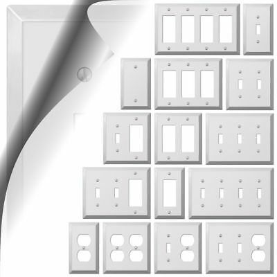 Switch Plate (Polished Chrome Switch Plate Century Metal Wallplate Cover Outlet Toggle Rocker )