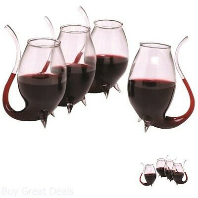 Oenophilia Port Wine Sippers Beverage Decanter Set of 4 Liqueur Glass Sherry Bar