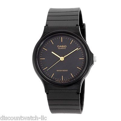 Casio Mq24 1E Mens Resin Band Casual Black Dial Analog Watch New