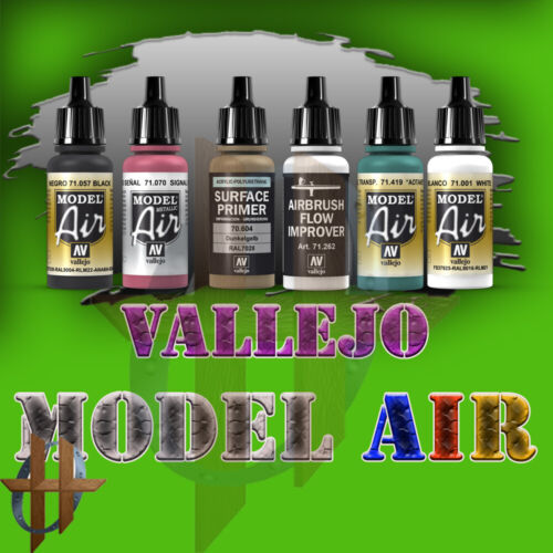 Vallejo Official Model Air Paint 17ml Airbrush Miniatures Paints Free Ship $35+