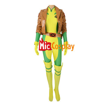 Rogue Cosplay Costume Suit with Kneepad and Shoe covers
