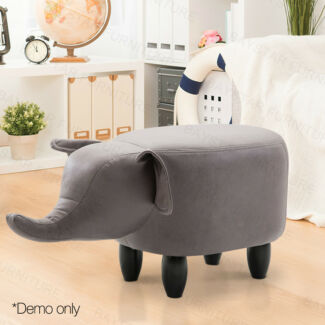 Kids Animal Wooden Stool Cow/Pig/Rhino Style