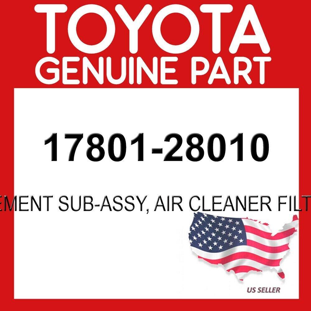 Toyota RAV4 4Cyl 2.0L  2.4L  2001-2005 Genuine OEM Air Filter 17801-28010