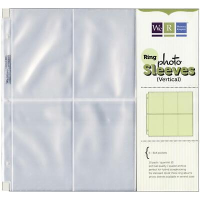 We R Memory Keepers 12x12 3-Ring Photo Sleeve Scrapbook Pages - 10PK ()