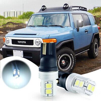 2pcs Bright White LED Side Mirror Lights Bulbs For 2007-2014 Toyota FJ Cruiser](White Visors Bulk)