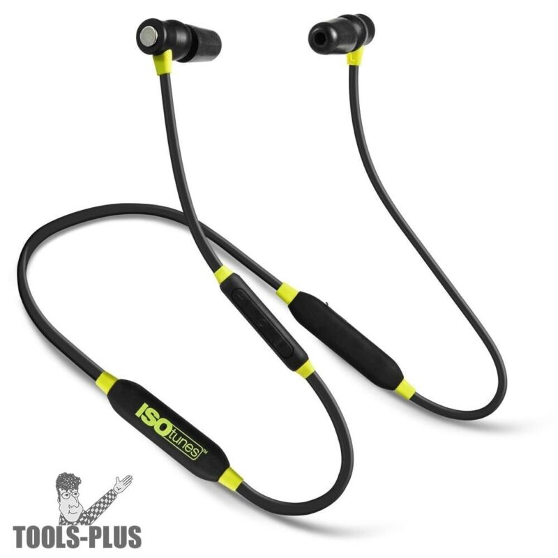 ISOtunes IT-02 XTRA Noise-Isolating Bluetooth Earbuds, 27db NRR 8 Hour Batte New